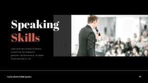 대중 연설 (Speaking) PPT 템플릿 #24