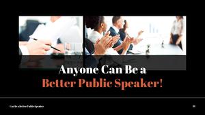 대중 연설 (Speaking) PPT 템플릿 #28
