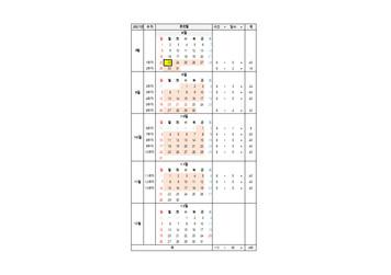 훈련 달력 시간표