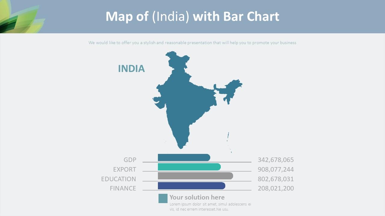 인도 지도 바 그래프형 다이어그램-미리보기