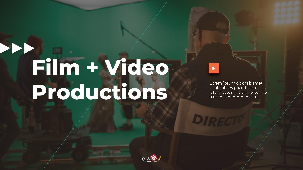영화 & 비디오 프로덕션 피치덱-미리보기