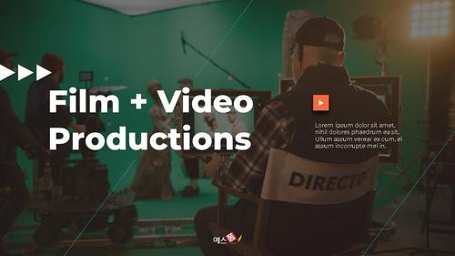 영화 & 비디오 프로덕션 피치덱 - 섬네일 1page
