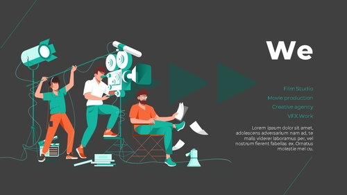 영화 & 비디오 프로덕션 피치덱 - 섬네일 2page