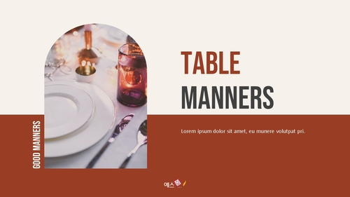 테이블 매너 (Table Manners) 파워포인트 - 섬네일 1page