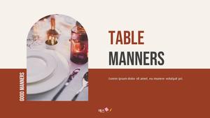 테이블 매너  Table Manners 파워포인트(파워포인트>프리미엄 PPT>사회/문화) - 예스폼 쇼핑몰 #1