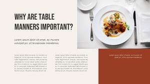 테이블 매너  Table Manners 파워포인트(파워포인트>프리미엄 PPT>사회/문화) - 예스폼 쇼핑몰 #3