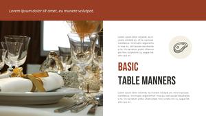 테이블 매너  Table Manners 파워포인트(파워포인트>프리미엄 PPT>사회/문화) - 예스폼 쇼핑몰 #4