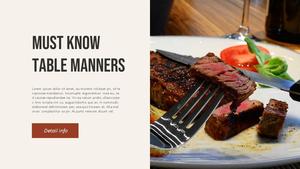 테이블 매너  Table Manners 파워포인트(파워포인트>프리미엄 PPT>사회/문화) - 예스폼 쇼핑몰 #5