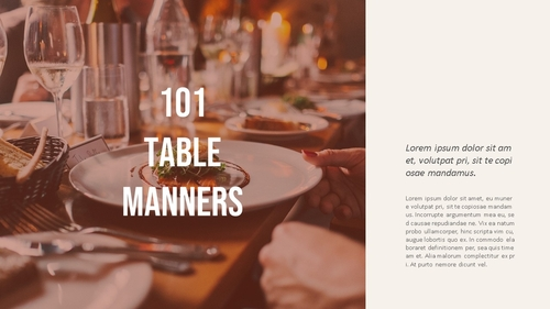 테이블 매너 (Table Manners) 파워포인트 - 섬네일 8page