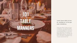 테이블 매너  Table Manners 파워포인트(파워포인트>프리미엄 PPT>사회/문화) - 예스폼 쇼핑몰 #8