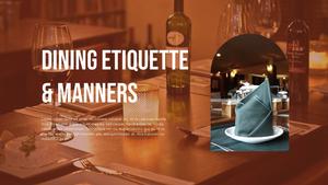 테이블 매너  Table Manners 파워포인트(파워포인트>프리미엄 PPT>사회/문화) - 예스폼 쇼핑몰 #10