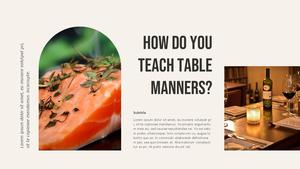 테이블 매너  Table Manners 파워포인트(파워포인트>프리미엄 PPT>사회/문화) - 예스폼 쇼핑몰 #11