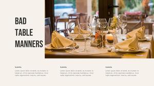 테이블 매너  Table Manners 파워포인트(파워포인트>프리미엄 PPT>사회/문화) - 예스폼 쇼핑몰 #15