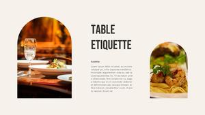 테이블 매너  Table Manners 파워포인트(파워포인트>프리미엄 PPT>사회/문화) - 예스폼 쇼핑몰 #18