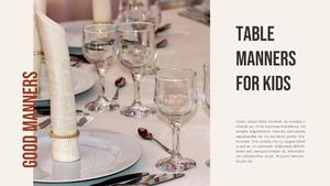 테이블 매너  Table Manners 파워포인트(파워포인트>프리미엄 PPT>사회/문화) - 예스폼 쇼핑몰 #21