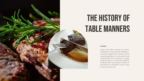 테이블 매너 (Table Manners) 파워포인트 - 섬네일 23page