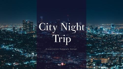 씨티 야경 투어 (City Night Trip) 16:9 ppt - 섬네일 1page