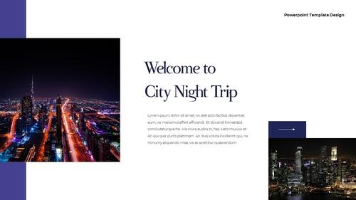 씨티 야경 투어 (City Night Trip) 16:9 ppt - 섬네일 2page