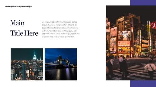 씨티 야경 투어 (City Night Trip) 16:9 ppt - 섬네일 5page