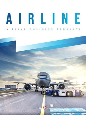 항공사 Airline 세로형 파워포인트 - 섬네일 1page