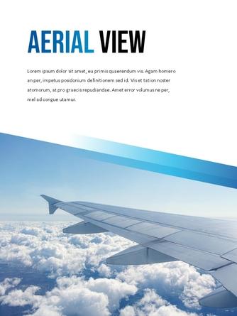 항공사 Airline 세로형 파워포인트 - 섬네일 2page