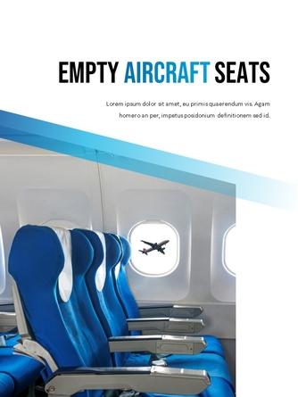 항공사 Airline 세로형 파워포인트 - 섬네일 5page