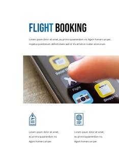 항공사 Airline 세로형 파워포인트(파워포인트>프리미엄 PPT>비즈니스/산업) - 예스폼 쇼핑몰 #6