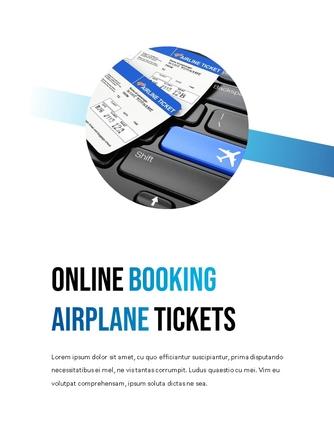 항공사 Airline 세로형 파워포인트 - 섬네일 7page