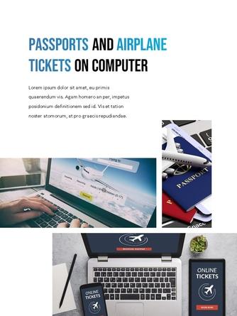 항공사 Airline 세로형 파워포인트 - 섬네일 8page
