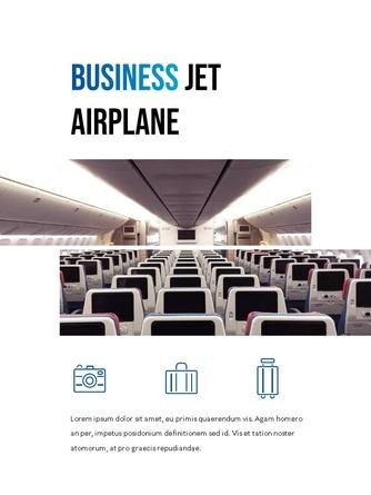 항공사 Airline 세로형 파워포인트 - 섬네일 13page