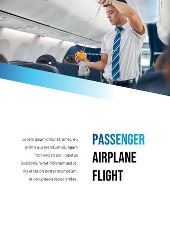항공사 Airline 세로형 파워포인트 - 섬네일 14page