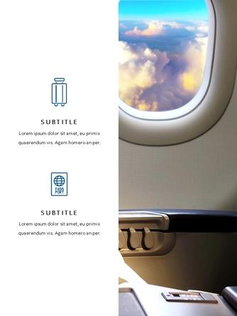 항공사 Airline 세로형 파워포인트 - 섬네일 15page