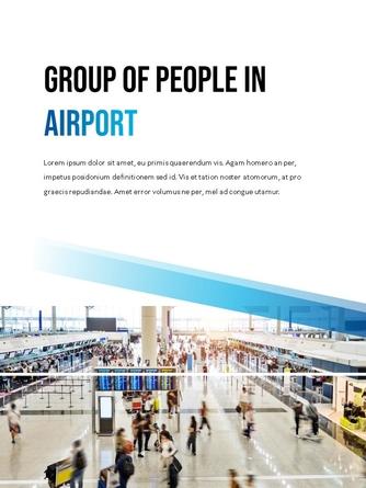 항공사 Airline 세로형 파워포인트 - 섬네일 16page