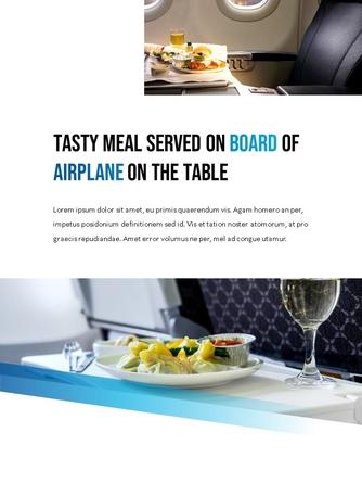 항공사 Airline 세로형 파워포인트 - 섬네일 17page