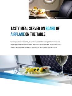 항공사 Airline 세로형 파워포인트(파워포인트>프리미엄 PPT>비즈니스/산업) - 예스폼 쇼핑몰 #17