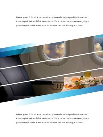 항공사 Airline 세로형 파워포인트 - 섬네일 18page