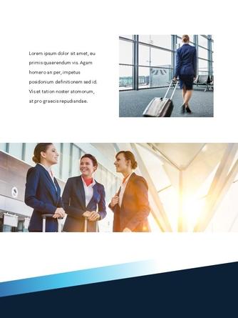 항공사 Airline 세로형 파워포인트 - 섬네일 20page