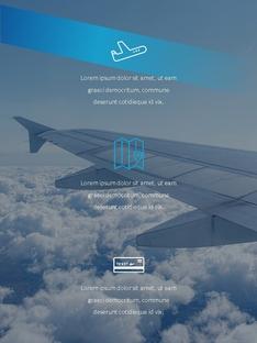 항공사 Airline 세로형 파워포인트(파워포인트>프리미엄 PPT>비즈니스/산업) - 예스폼 쇼핑몰 #21