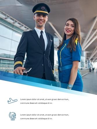 항공사 Airline 세로형 파워포인트 - 섬네일 23page