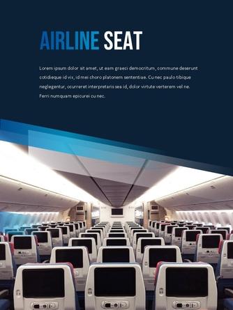 항공사 Airline 세로형 파워포인트 - 섬네일 24page