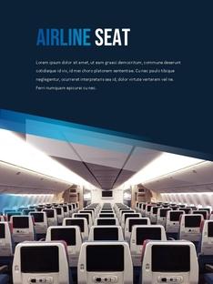 항공사 Airline 세로형 파워포인트(파워포인트>프리미엄 PPT>비즈니스/산업) - 예스폼 쇼핑몰 #24