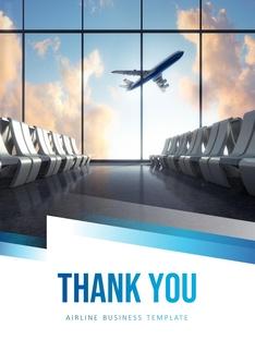 항공사 Airline 세로형 파워포인트(파워포인트>프리미엄 PPT>비즈니스/산업) - 예스폼 쇼핑몰 #25