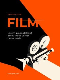 영화와 필름 테마 세로형 템플릿(파워포인트>프리미엄 PPT>사회/문화) - 예스폼 쇼핑몰 #2