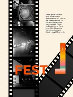 영화와 필름 테마 세로형 템플릿(파워포인트>프리미엄 PPT>사회/문화) - 예스폼 쇼핑몰 #3