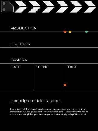 영화와 필름 테마 세로형 템플릿 - 섬네일 4page
