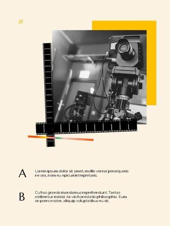 영화와 필름 테마 세로형 템플릿 - 섬네일 6page