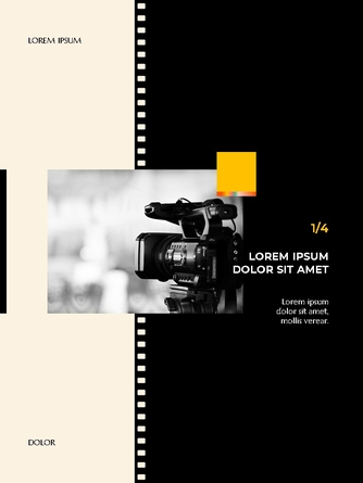 영화와 필름 테마 세로형 템플릿 - 섬네일 8page