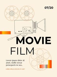 영화와 필름 테마 세로형 템플릿(파워포인트>프리미엄 PPT>사회/문화) - 예스폼 쇼핑몰 #13