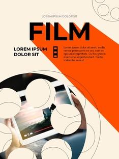 영화와 필름 테마 세로형 템플릿(파워포인트>프리미엄 PPT>사회/문화) - 예스폼 쇼핑몰 #14
