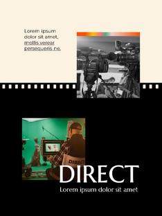 영화와 필름 테마 세로형 템플릿(파워포인트>프리미엄 PPT>사회/문화) - 예스폼 쇼핑몰 #19